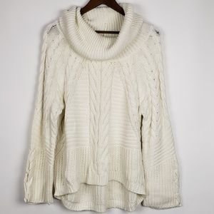 Express Chunky Knit Cowl Neck Sweater Size Large